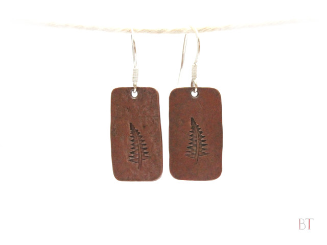 [Fern Earrings] – Copper