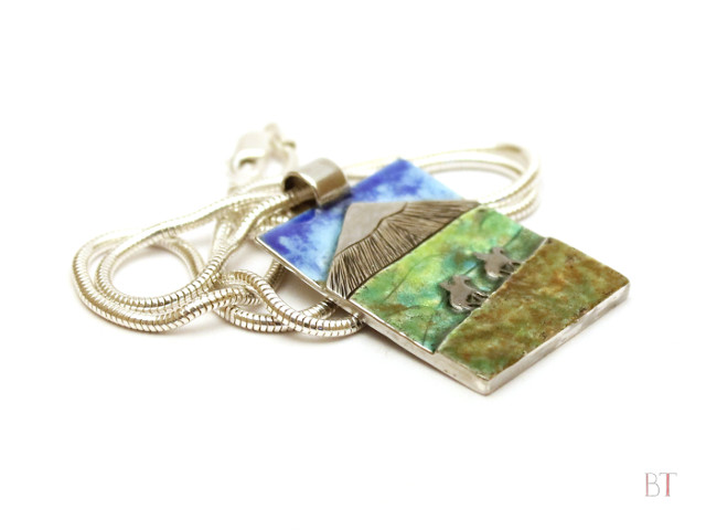 [My Favourite Place – Cotopaxi] –Sterling Silver, Enamel