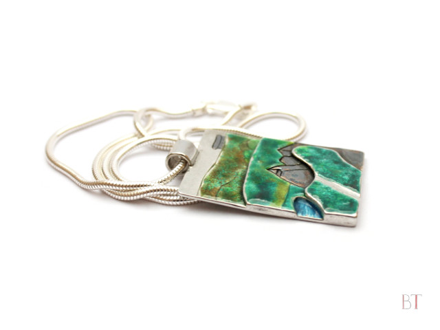 [My Favourite Place – Raven Rock] –Sterling Silver, Enamel