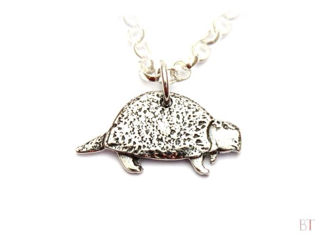 [Glyptodon Pendant] – Sterling Silver