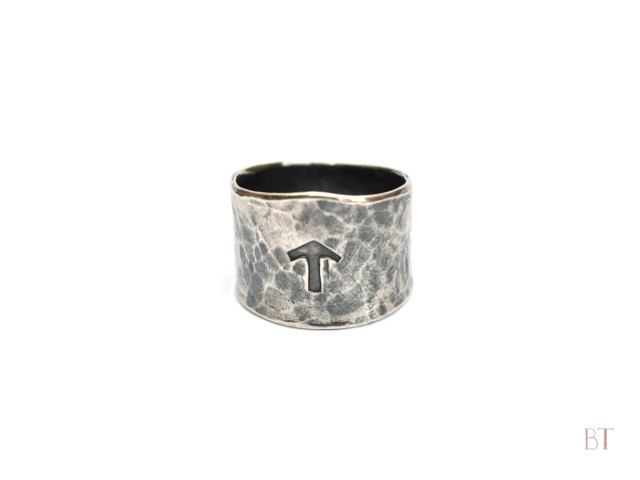 [Viking Stamped Hammer Ring] – Sterling Silver