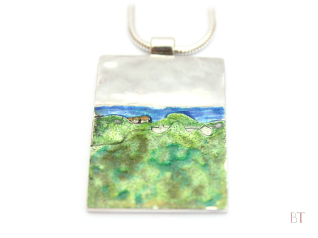 [My Favourite Place – Tilos] –Sterling Silver, Enamel