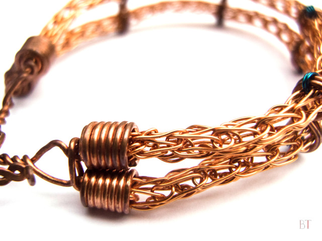 [Viking Knit Bracelet] - Copper
