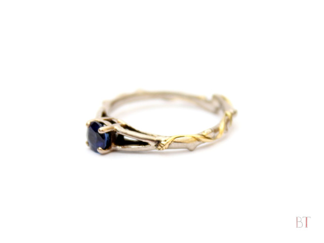 [Emily's Engagement Ring] - 18 Carat White and Yellow Gold, Sapphire