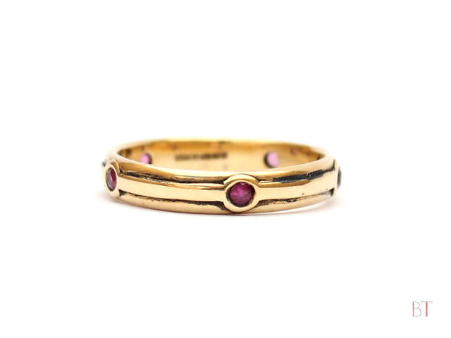 [Forty years of Bliss] - 18 Carat Yellow Gold, Rubies