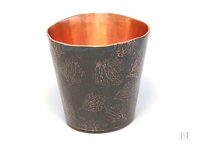 [Shot Glass] – Copper, Etched and Oxidised Decoration
