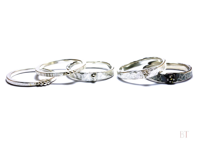 [Stacking Rings] – Sterling Silver, Copper