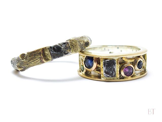 [Meteorite Rings] – Bronze, 9ct Gold, Sterling Silver, Heirloom Gems